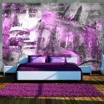 Papiers peints intissés Jardindeco violets à motif Berlin
