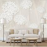 Papier peint - Creamy Daintiness - Décoration, image, art | Fonds et Dessins | Motifs floraux |