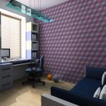 Papier Peint | Cubes Violets | 400x309 | -