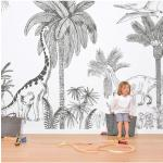 Papier peint décor mural Jurrasic - Dinosaures