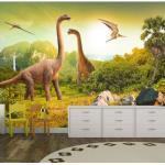 Papier peint - Dinosaurs - Décoration, image, art - Pour enfants