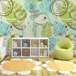 Papier peint - éléphants (pour enfants) - Décoration, image, art