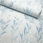 Papier peint expansé sur intissé - Botanique - Feuille bambou blanc bleu - Rouleau(x)
