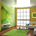 Papiers peints intissés verts