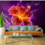 Papier peint - Fiery flower in purple 100x70
