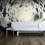 Papier peint - Fish swirl - Décoration, image, art - Animaux -