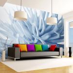 Papier Peint   Fleur Dahlia Bleu   300x231   -