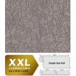 Papier peint floral EDEM 9040-22 papier peint gaufré à chaud avec dos intissé gaufré avec des ornements floraux brillant gris brun 10,65 m2