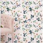 Papier peint floral, Made in France