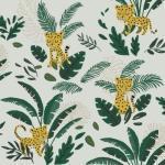 Papier peint intissé Jungle night guépard et feuillages (10 m) Lilipinso