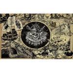 Papier Peint intissé panoramique Pirate des Carïbes 5 fond sépia Disney 400X250CM