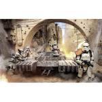 Papier Peint intissé panoramique Tanktrooper et stormtroopers à l'attaque - Star Wars 400X250CM