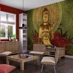 Papier peint - Le Bouddha d'or - Décoration, image, art - Orient