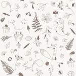 Papier peint L'orée du bois Lutin Petit Pois