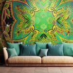 Papier peint - Mandala: Emerald Fantasy - Décoration, image, art