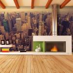 Papier Peint - Manhattan Vu Du Ciel, New York - Décoration, Image, Art | 450x270 Cm | Xxl - Grand Format -