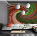 Papier peint - Mélange vert et orange - 250x193 - -