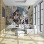 Papier peint - New York (détail) - 200x154 - Street art -