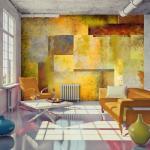 Papier peint - Orange Hue of Art Expression - Décoration,