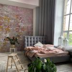 Papiers peints Maisons du Monde roses éco-responsable