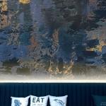 Papiers peints Maisons du Monde bleus éco-responsable