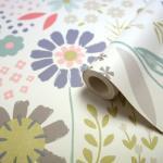 Papier peint papier duplex Tamus multicolore