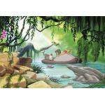 Papier Peint Photo Le livre de la jungle Disney Nager avec Baloo 368cm x 254cm