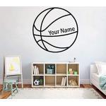Papier peint photo Nom de garçon personnalisé basket-ball mur autocollant vinyle personnalisé basket-ball Sport garçons chambre décalcomanie amovible décor à la maison 57x57 CM