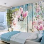 Papiers peints Bimago roses à motif fleurs