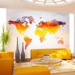 Papier peint - Rusty - Décoration, image, art - Carte du monde -