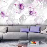 Papier peint - Sounds of subtlety - silver 100x70
