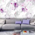papier peint - sounds of subtlety - silver - artgeist - 150x105