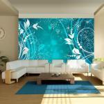 Papier peint - Turquoise face of magic - 150x105 - Fonds et