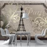 Papier peint - Vintage Paris - gold 350x245