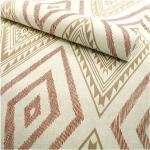 Papier peint vinyle sur intissé - Ethnique - Motif losange terracotta marron - Rouleau(x)