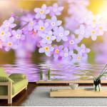 Papier peint - Violet Petals In Bloom 150x105