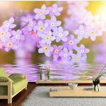Papier peint - Violet Petals In Bloom 400x280