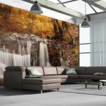 Papier peint XXL - Autumn landscape: waterfall in forest -