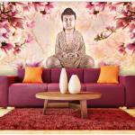 Papier peint XXL - Bouddha et magnolia - Décoration, image, art