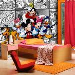 Papier peint XXL intisse Mickey BD Blanc Disney 360X255 CM