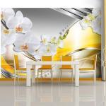 Papiers peints intissés jaunes