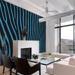 Papier peint - Zebra pattern (turquoise) - Décoration, image,