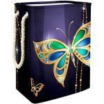 Papillon Saphir Doré Panier de Rangement de Jouets Pour Enfants de Grande Capacité Boîte de Rangement Bin Salle de jeux Enfants Garçons Filles Collection Jouets 49x30x40.5cm