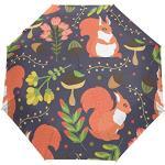 Parapluie pliable de voyage Releess - Motif écureuil compact et coupe-vent - Pour femme et homme - Unisexe