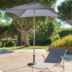Parasol droit carré Anzio Ardoise Jardin