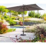 Parasol droit rectangulaire Loompa Ardoise Jardin