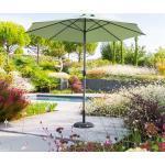Parasol droit rond Loompa Vert olive Jardin
