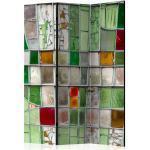 Paravent 3 Volets Emerald Stained Glass 135x172cm - Paris Prix