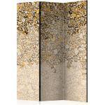 Paravent 3 volets panneaux cloison séparateur de pièce pliable recto verso Art et papillons 135x172 cm PAR110046