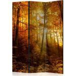 Paravent 3 volets panneaux cloison séparateur de pièce pliable recto verso Illumination d'automne 135x172 cm PAR110051